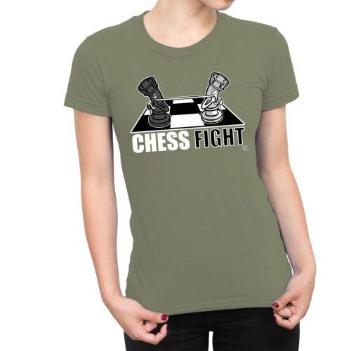 1Tee Womens Chess Fight Tug Of War T-Shirt