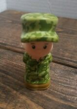 Fisher Price Little People GIRL SOLDIER ARMY Military Service Hero Uniform #2