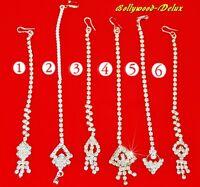 Stirnschmuck Tikka Bollywood Hochzeit Tiara Sari Bauchtanz Design Silber Farbe