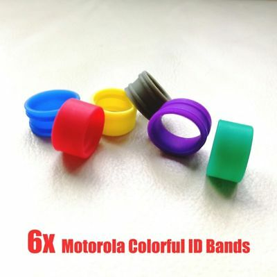 6x Color ID Bands Distinguish for Motorola Antenna XPR3500 XPR7380 XPR7580