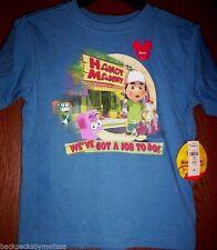 Handy MANNY Boy's 4T Blue Short Sleeve Shirt NeW Disney Store Tools Stretch