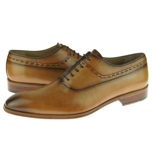 Men/'s Dress Leather Shoes Corrente 4573 Plain Toe Oxford Tabacco