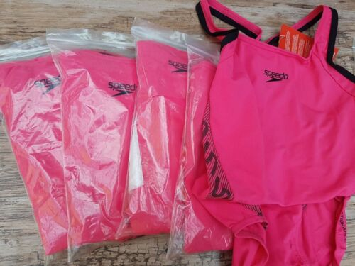 Speedo Fit Laneback swimsuit Endurance Pink size 10 and 12 No Bust Support.