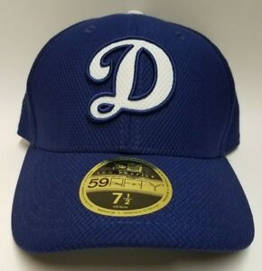 New Era Los Angeles Dodgers Royal Blue Hat Cap Fitted Low Profile