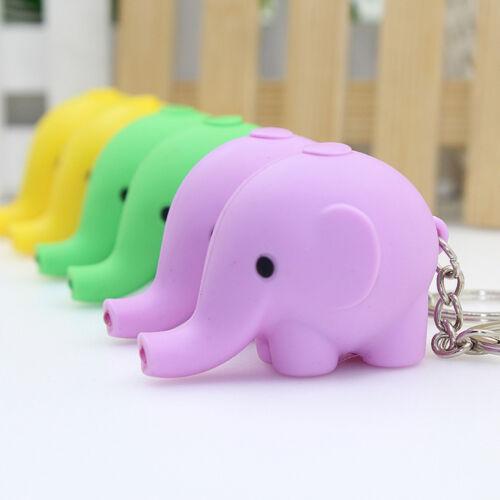 Key Chains Mini Elephant Shape LED Flashlight Luminous Bag Pendant Accessories
