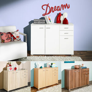 kommode p92 sideboard anrichte schrank wei eiche buche. Black Bedroom Furniture Sets. Home Design Ideas