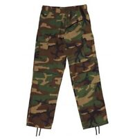 Rothco 2941 Woodland Camo Relaxed Fit Zipper Fatigue Pants