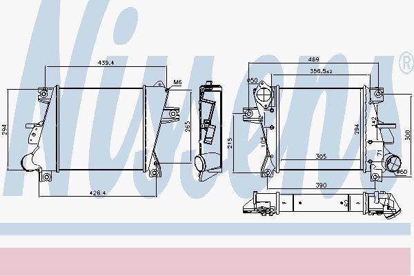 Nissens 96407 Refroidisseur pour Nissan X - Trail Td 05-07