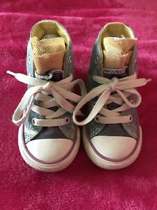 5f092db359d0 CONVERSE ALL STAR HIGH TOP JEAN PINK WHITE PAINT SPLASH TODDLER 5 ...
