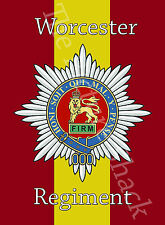 THE STAFFORDSHIRE REGIMENT CAP BADGE PRINTED ON A METAL SIGN 5 x 7 INCHES.