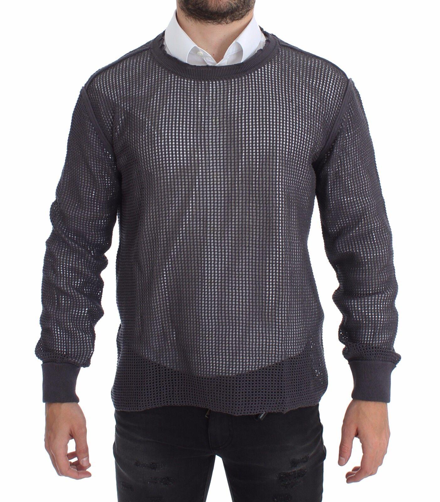 NWT DOLCE & GABBANA lila Runway Netz Pullover Netted Sweater IT54 / XXL