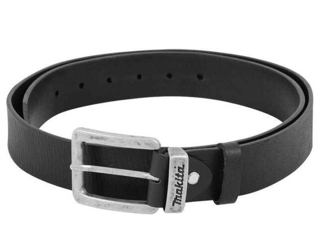 """MAKITA Large Black Leather Belt 1.33m P-72213 Fits 31"""" to 38"""" NEW"""