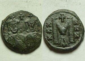 Rare-ORIGINAL-ancient-BYZANTINE-coin-Reduced-follis-CONSTANTINE-V-751AD-Leo-III