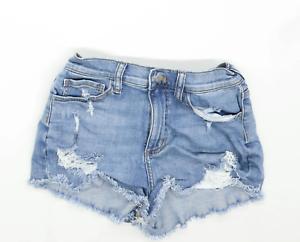 Womens-Victorias-Secret-Blue-Denim-Shorts-Size-W26