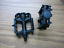 """XLC 1//2/"""" Axle MTB Resin Bicycle Pedals Black Bike 1//2 For One Piece Cranks New"""