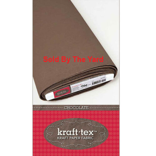 "Kraft-tex Paper Fabric Chocolate 19/"" Wide By The Yard"