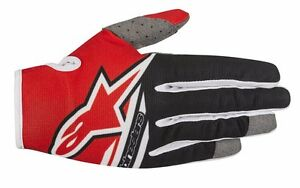 Guanti-Adulto-Alpinestars-Radar-Flight-Gloves-Rosso-Nero-Cross-Enduro-MTB-DH