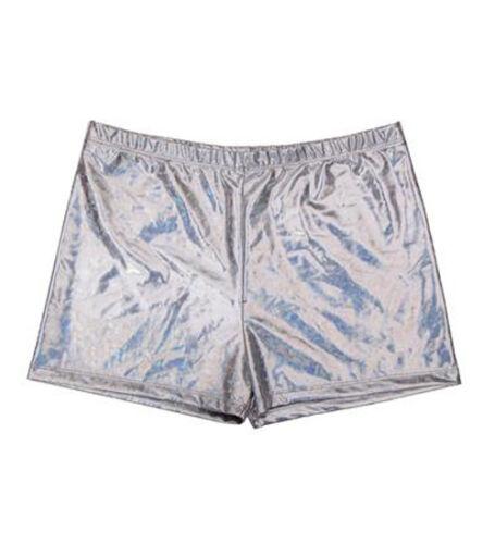 Unisex 80 S Oro Olografico Metallico Hot Pants Pantaloncini Discoteca Gay Pride Festival