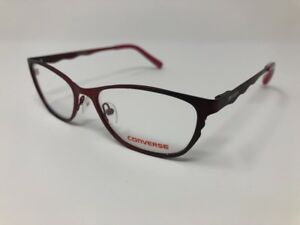 145d0e34ea8 NEW! Converse K200 Burgundy Eyeglass Frames 50 16 135 Flex Hinge ...