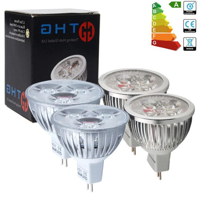 Lot de 12/10/8x Ampoules LED MR16 GU5.3 4W=35W 6W=50W Lampe Lumière Spot DC12V