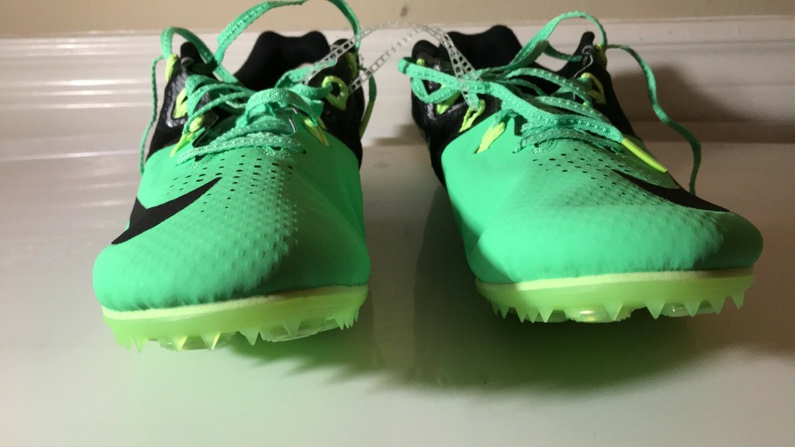 NEW 12 NIKE Zoom Rival S 8 Track Shoes MENS 12 NEW Green Black 806554 303 e708f4