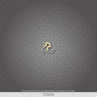 07078 Dawes Bicycle Head Badge Sticker Transfer Decal Black
