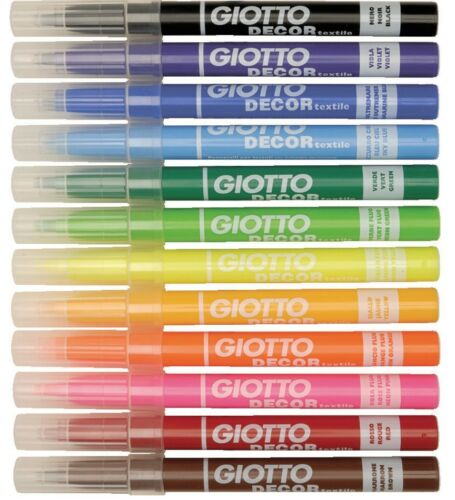 Pack of 12 Giotto 494900 Décor Textile Fibre Pens