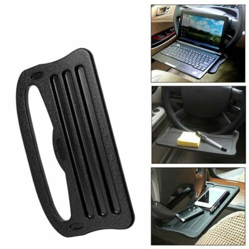 Car Steering Wheel Tray Table Laptop Stand Work Desk Drink Holder Clip Cute