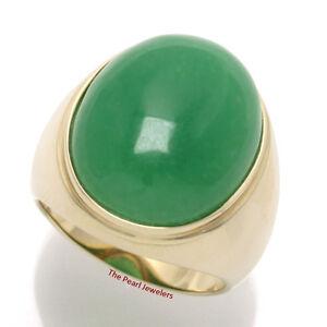 Mens Solid Jade Rings