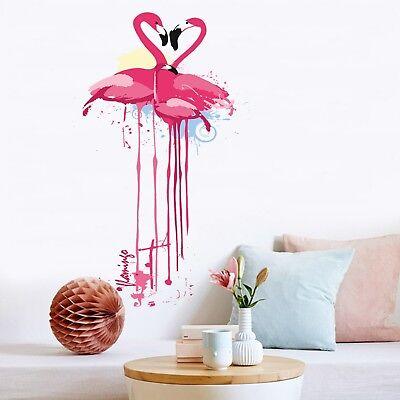 3d Graffiti Flamingo 4 Wallpaper Mural Floor Wall Print Decal Wall