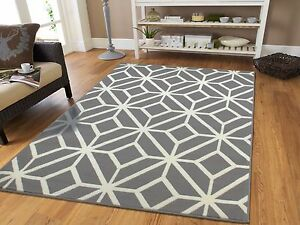 Gray Rugs 8x10 Contemporary Diamond Patterned Moroccan