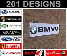 volkswagen volvo ferrari fiat banner sign workshop garage track advertisement