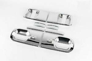 Chrome-Door-Handle-Molding-Cover-2-Keyhole-for-Hyundai-07-H-1-iLOAD