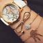 Fashion-Women-Gold-Silver-Punk-Cuff-Bracelet-Bangle-Chain-Wristband-Set-Jewelry thumbnail 70