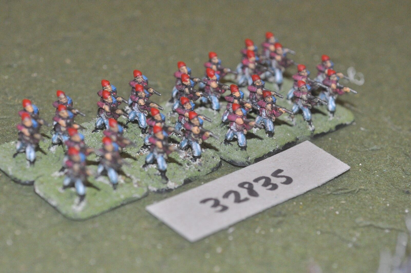 15mm ACW   confederate - - - zouaves 32 figures - inf (32835) 4f5278