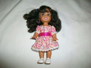 Pretty Ethnic Kelly Barbie Doll with Floral Dress and White Shoes