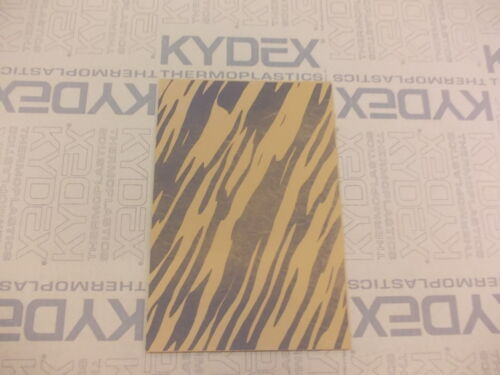 2 mm A4 KYDEX T Sheet 297 mm x 210 mm  Desert Tan Stripes Camouflage on Coyote