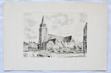 Gravure Originale à la Taille-Douce - René Cottet - Paris - St Germain des Près