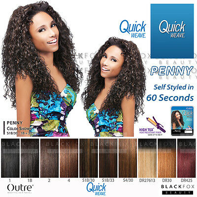 PENNY OUTRE QUICK WEAVE SYNTHETIC HAIR HALF WIG