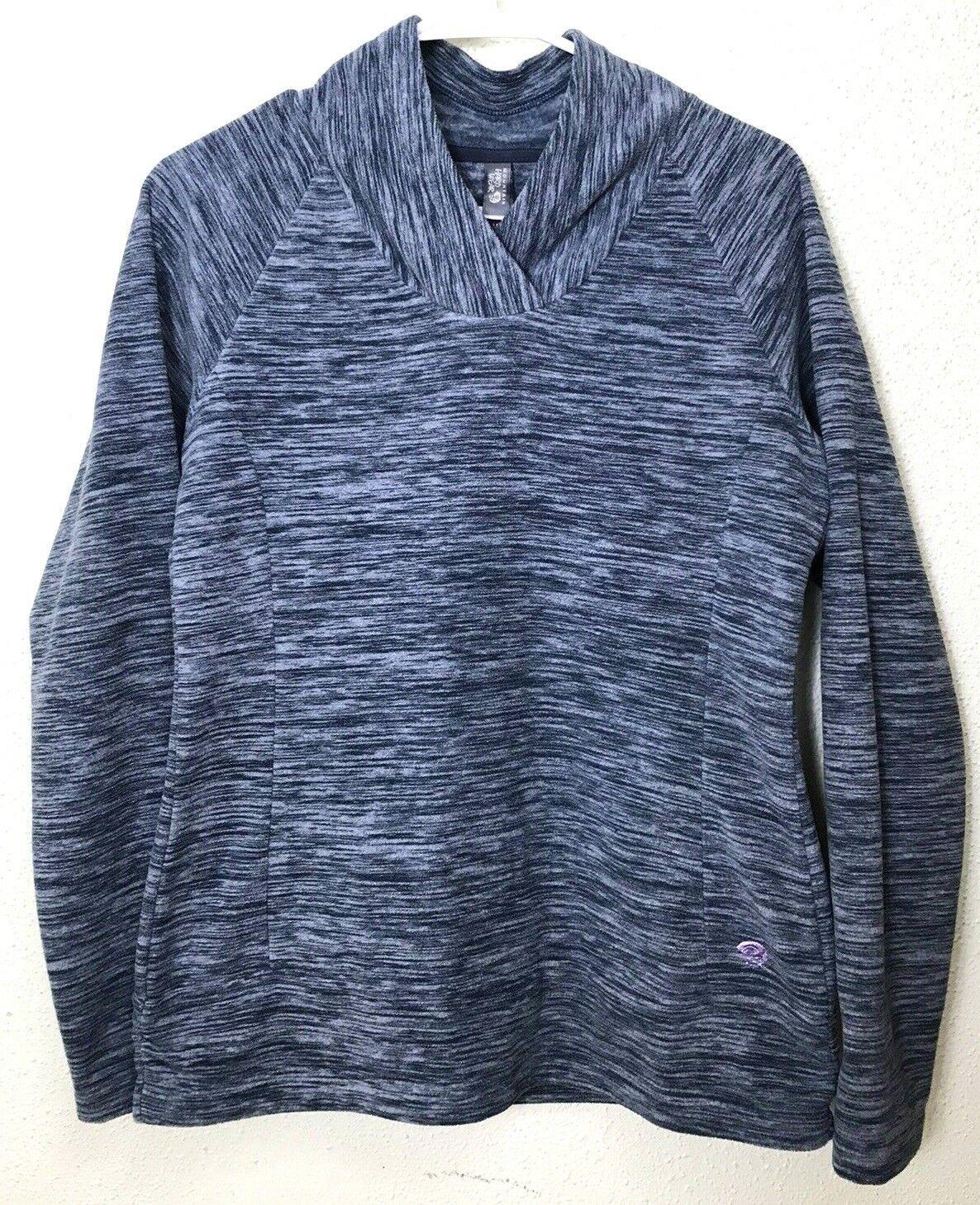 Mountain Hardwear Women's Fleece Pullover Sweater Size M Blue Space-dye