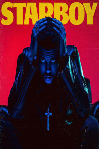 The Weeknd Starboy Cover Poster Album HQ 14x21 24x36 T136