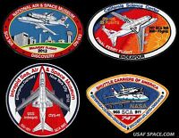 NASA - COMPLETE SET OF 4 / FINAL FERRY FLIGHTS + SHUTTLE CARRIERS SCA PATCH