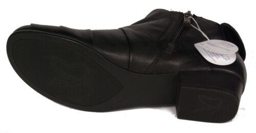 CAPRICE Schuhe City Stiefeletten Schwarz echt Leder Reißverschluss NEU