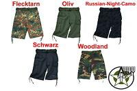 Army Cargo Bermuda Shorts kurze Hose mit Gürtel schwarz oliv BW XS S M L XL XXL