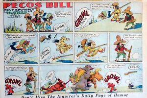 Pecos-Bill-by-Jack-Warren-Western-large-half-page-Sunday-comic-March-7-1937