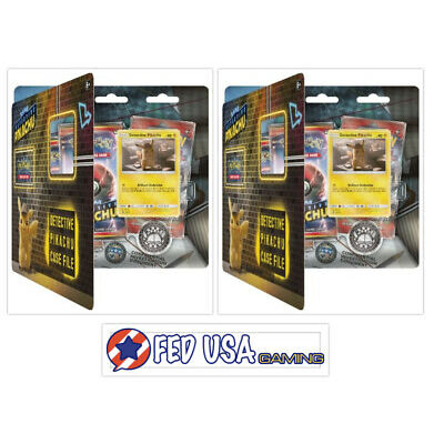 Pokemon TCG Detective Pikachu Case File 2 Boxes 6 Booster Packs + Promos