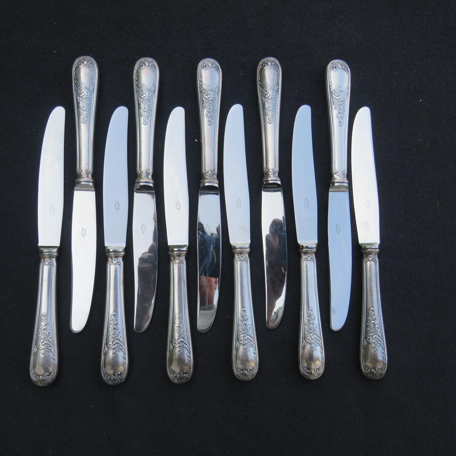 11 couteaux à entremet  en métal argenté François Frionnet  modèle marly