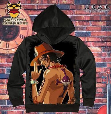 Cosplay One Piece D.ACE Anime Kapuzen Sweatshirt Langarm T-Shirt Hoodie Pullover