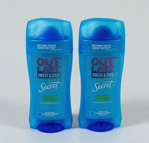 2 Secret OUT LAST Sweat & Odor 48-hr INVISIBLE SOLID 2.6oz ACTIVE FRESH 06/2022