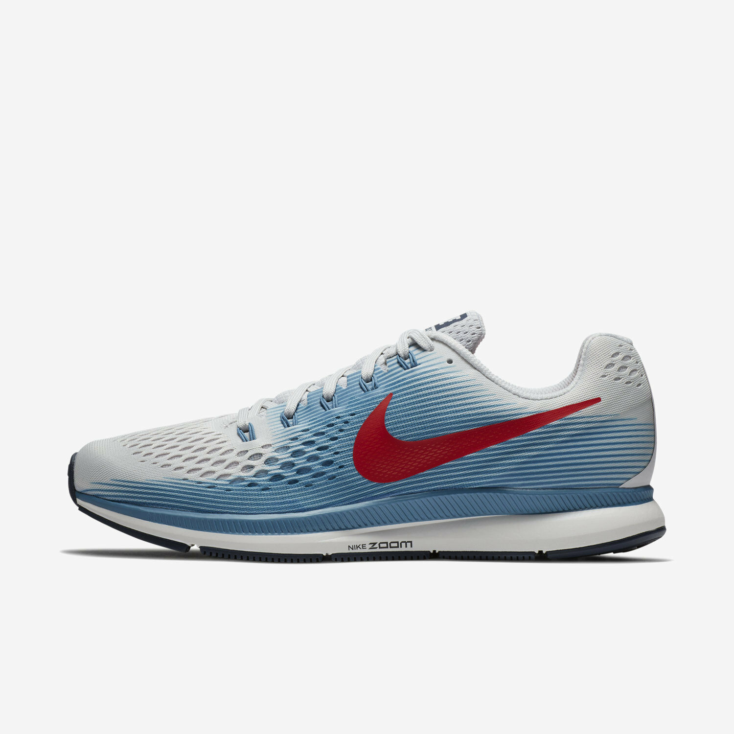 Mns Nike Air Zoom Pegasus 34 Sz 7.5-13 Grey Univ Red 880555-016 FREE SHIPPING